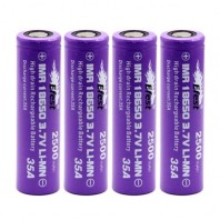 4 x GENUINE EFEST IMR 18650 3.7v HIGH DRAIN 35A PURPLE BATTERIES 2500MAH 35 AMP