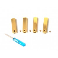 """1 Set """"4 pcs"""" DIY Metal shoe laces Aglets tips For Replacement Air Yeezy 2 GOLD"""