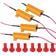 4 x 50W 6ohm Load Resistors For Hyper Flash Turn Signal Blink Blinker LED Light