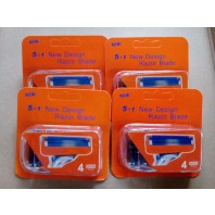 16 Fusion Type Refills Cartridge Razor Blade For Gillette FOUR 4-Packs- NEW