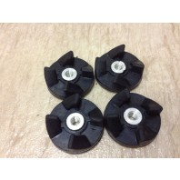 4 x Replacement Parts Rubber Gear Spare Part for Magic Bullet (Cross/Flat blade)