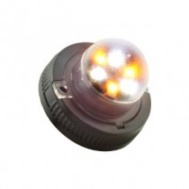 Snow Plow Service Tow Truck 6W LED Hideaway Strobe Warning Light-AMBER WHITE