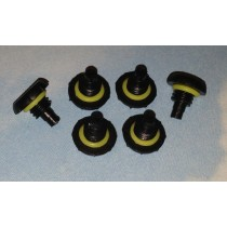 REPLACEMENT BLACK HEADPHONE COVER SCREW SEAL CAPS FOR LIFEPROOF CASE iPHONE 4 4S