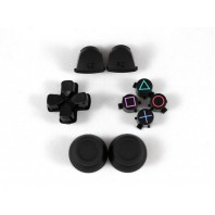 Black Full Sets Replacement Parts Buttons For PlayStation 4 PS4 Controller