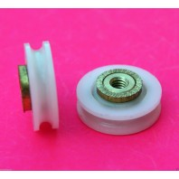 Shower Door ROLLERS /Runners/Wheels V Grooved 19mm Wheel Dia LW19 Replacements